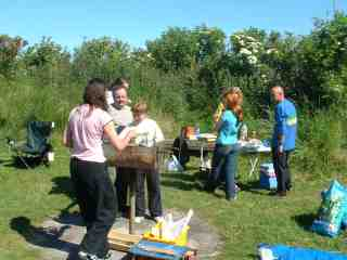 Club members meet for a barbeque