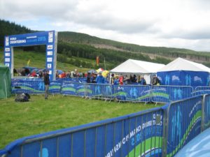 The finish area in Glen Affric
