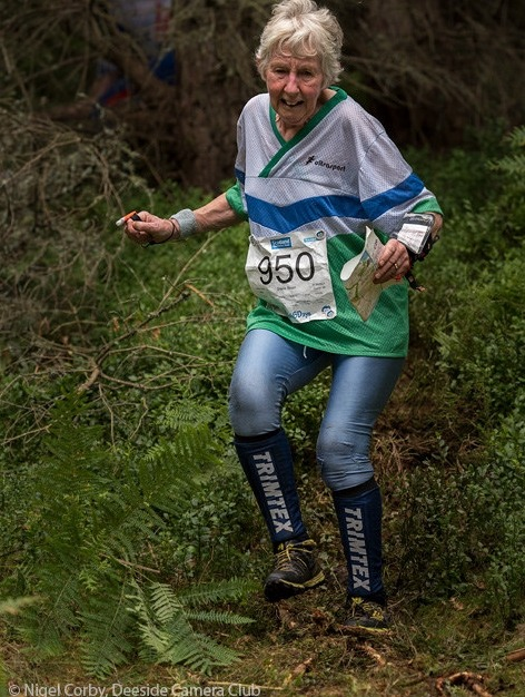 Sheila Strain in action at the the Scottish 6 Days