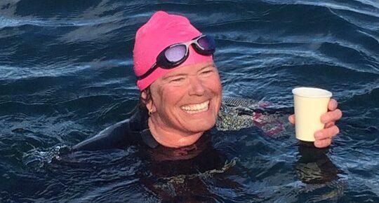 Saartje swims East Lothian coastline